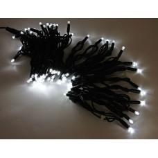 Светодиодная гирлянда LED-PLR-100-10M-240V-W/BL-W/O, белая, черный провод, соединяемая (без силового шнура) 10м