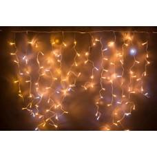 Светодиодная бахрома LED-RPL-360-3.6X1.3M-240V-WW+W Flash теплая белая, белый FLASH, прозрачный провод, 3,6*1,3 м
