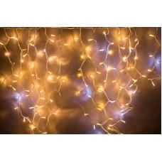 Светодиодная бахрома LED-RPLR-360-240V-3.6M-WW+W Flash, теплый белый, холодный белый FLASH, белый провод, 3,6*1,3 м