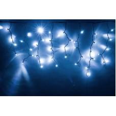 Светодиодная бахрома LED-RPLR-160-4.8M-240V-W/BL белая, черный провод (без силового шнура) 4,8*0,6 м