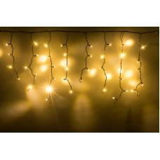 Светодиодная бахрома LED-RPLR-160-4.8M-240V-WW/BL белая теплая, черный провод (без силового шнура) 4,8*0,6 м