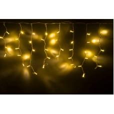 Светодиодная бахрома LED-RPLR-160-4.8M-240V-WW/WH теплая белая, белый провод (без силового шнура) 4,8*0,6 м
