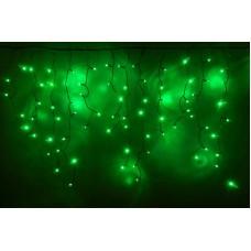 Светодиодная бахрома LED-RPL-200-230V-(С)-G зеленая, с контроллером, черный провод, 3,2*0,8 м