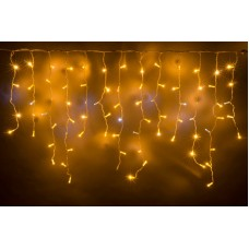 Светодиодная бахрома LED-RPL-200-230V-WW/WH-F(CW) Flash теплая белая, белый провод, белый FLASH, 3,2*0,8 м
