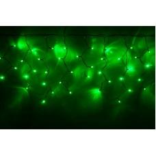 Светодиодная бахрома LED-RPLR-160-4.8M-240V-G зеленая, белый провод, 4,8*0,6 м