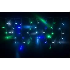 Светодиодная бахрома LED-RPLR-160-4.8M-240V-M(G/W/B)/WH-F(CW) мульти, белый FLASH, белый провод, 4,8*0,6 м