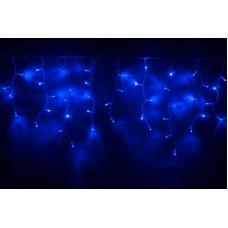 Светодиодная бахрома LED-RPLR-160-4.8M-240V-B/WH-F(B) синяя, синий FLASH, белый провод, 4,8*0,6 м