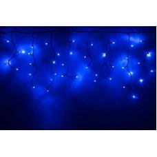 Светодиодная бахрома LED-RPLR-160-4.8M-240V-B/BL-F(B) синяя, синий FLASH, черный провод, 4,8*0,6 м