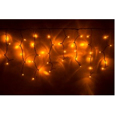 Светодиодная бахрома LED-RPLR-160-4.8M-240V-Y желтая, черный провод, 4,8*0,6 м