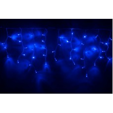 Светодиодная бахрома LED-RPLR-160-4.8M-240V-B/WH синяя, белый провод, 4,8*0,6 м