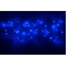 Светодиодная бахрома LED-RPLR-160-4.8M-240V-B синяя, черный провод, 4,8*0,6 м