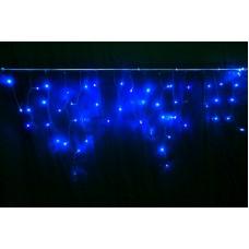 Светодиодная бахрома LED-RPL-176-4.8X0.6M-240V-B/DG синяя, темно-зеленый провод, 4,8*0,6 м