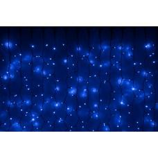 Светодиодный занавес LED-PLRS-5720-240V-2*6М-B/BL (синие светодиоды/черный каучуковый провод) 2*6 м