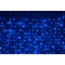 Светодиодный занавес LED-PLRS-5720-240V-2*6М-B/WH (синие светодиоды/белый каучуковый провод) 2*6 м