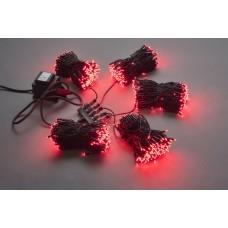 Светодиодный спайдер LED-BS-200*5-20M*5-24V-R красный, черный провод, 5 нитей по 20 м