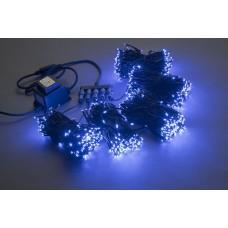 Светодиодный спайдер LED-BS-200*5-20M*5-24V-B синий, черный провод, 5 нитей по 20 м
