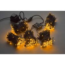 Светодиодный спайдер LED-BS-200*5-20M*5-24V-Y желтый, черный провод, 5 нитей по 20 м