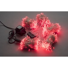 Светодиодный спайдер LED-BS-200*5-20M*5-24V-R красный, красный Flash, прозрачный провод, 5 нитей по 20 м