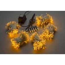 Светодиодный спайдер LED-BS-200*5-20M*5-24V-Y желтый, желтый Flash, прозрачный провод, 5 нитей по 20 м