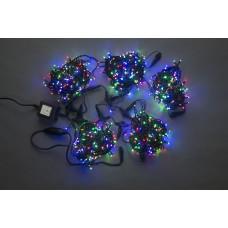 Светодиодный спайдер LED-PLS-200*5-20M*5-24V-M/BL мульти, черный провод, 5 нитей по 20 м, с трансформатором