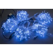 Светодиодный спайдер LED-PLS-200*5-20M*5-24V-B/C-F(B) синий, синий Flash, прозрачный провод, 5 нитей по 20 м с трансформатором 230V/24V/60W
