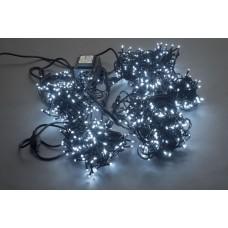 Светодиодный спайдер LED-PLS-200*5-20M*5-24V-W/BL белый, черный провод, 5 нитей по 20 м, с трансформатором