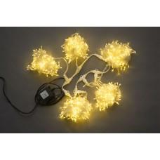 Светодиодный спайдер LED-PLS-200*5-20M*5-24V-WW/BL теплый белый, белый провод, 5 нитей по 20 м, с трансформатором