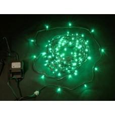 Светодиодный клип-лайт LED-LP-200-30M-12V-G зеленый, темно-зеленый провод, 30М, 200 светодиодов