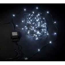 Светодиодный клип-лайт LED-LP-200-30M-12V-W белый, темно-зеленый провод, 30М, 200 светодиодов