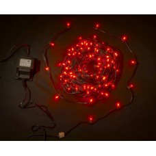 Светодиодный клип-лайт LED-LP-200-30M-12V-R красный, темно-зеленый провод, 30М, 200 светодиодов
