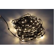 Светодиодный клип-лайт LED-LP-ZY-15CM-20M-12V-WW/BL теплая белая, черный провод, 20М, 133 светодиода