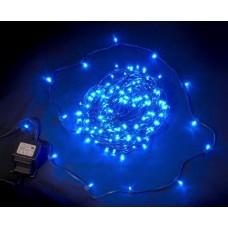 Светодиодный клип-лайт LED-LP-200-30M-12V-B синий, темно-зеленый провод, 30М, 200 светодиодов