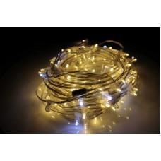 Светодиодный клип-лайт LED-LP-200-30M-12V-WW-F(W) теплый белый, белый Flash, прозрачный провод, 30М