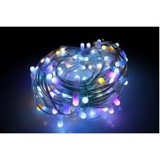 Светодиодный клип-лайт LED-LP-15СМ-100M-12V-RGB  RGB (cмена цветов), прозрачный провод, 100М, 666 светодиодов