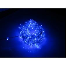 Светодиодный клип-лайт LED-LP-15-100M-12V-B-F(B) синий, синий Flash, прозрачный провод (c насадкой-колпачек)