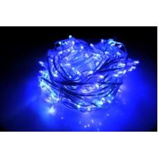 Светодиодный клип-лайт LED-LP-15-100M-12V-B-F(W) синий, белый Flash, прозрачный провод (c насадкой-колпачек)