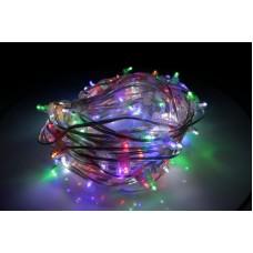Светодиодный клип-лайт LED-LP-15-100M-12V-M-F(W) мульти, белый Flash, прозрачный провод (c насадкой-колпачек)