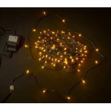 Светодиодный клип-лайт LED-LP-200-30M-12V-Y желтый, темно-зеленый провод, 30М, 200 светодиодов