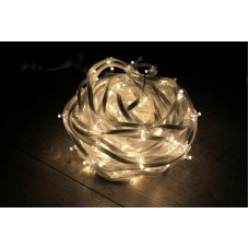 Светодиодный клип-лайт LED-FPC-3528-135-20M-12V-WW теплый белый, прозрачный провод, 135 светодиодов, 20М, 12V