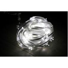 Светодиодный клип-лайт LED-FPC-3528-135-20M-12V-W белый, прозрачный провод, 135 светодиодов, 20М, 12V