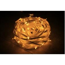 Светодиодный клип-лайт LED-FPC-3528-135-20M-12V-Y желтый, прозрачный провод, 135 светодиодов, 20М, 12V