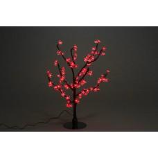 Куст светодиодный, Сакура 0,8*0,8 м красный (96 светодиодов)