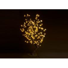 Куст светодиодный, Сакура 0,8*0,8 м жёлтый (224 светодиода)