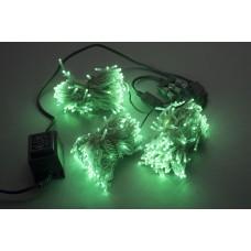 Светодиодный спайдер LED-BS-200*3-20M*3-24V-G зеленый, зеленый Flash, прозрачный провод, 3 нити по 20 м