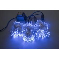 Светодиодный спайдер LED-BS-200*3-20M*3-24V-B синий, синий Flash, прозрачный провод, 3 нити по 20 м