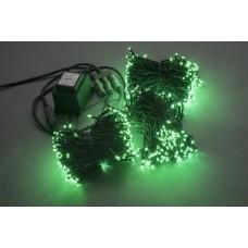 Светодиодный спайдер LED-BS-200*3-20M*3-24V-G зеленый, черный провод, 3 нити по 20 м