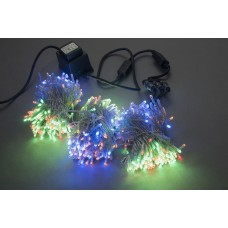 Светодиодный спайдер LED-BS-200*3-20M*3-24V-M мульти, прозрачный провод, 3 нити по 20 м
