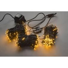Светодиодный спайдер LED-BS-200*3-20M*3-24V-Y желтый, черный провод, 3 нити по 20 м