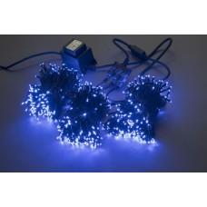 Светодиодный спайдер LED-BS-200*3-20M*3-24V-B синий, черный провод, 3 нити по 20 м