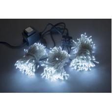 Светодиодный спайдер LED-BS-200*3-20M*3-24V-W белый, белый Flash, прозрачный провод, 3 нити по 20 м